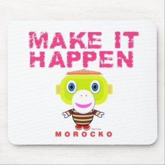 Mousepad Faça-lhe o Macaco-Morocko Acontecer-Bonito