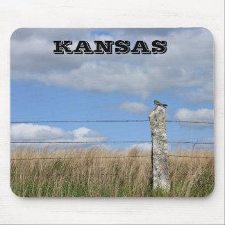 Mousepad Falcão de Kansas em um tapete do rato do cargo da