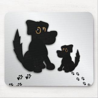 Mousepad Família de cão preto