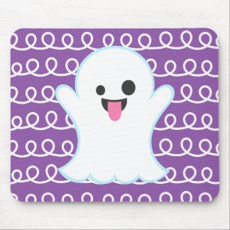 Mousepad Fantasma parvo de Emoji (redemoinho roxo)