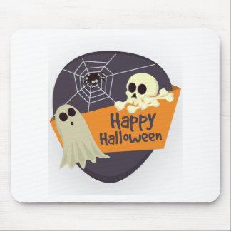 Mousepad Fantasmas felizes e Crossbones do Dia das Bruxas