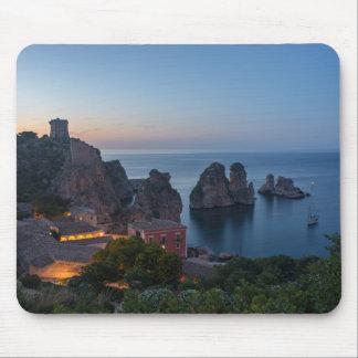 Mousepad Faraglioni e almodrava em Scopello, Sicília