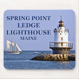 Mousepad Farol da borda do ponto do primavera, Maine