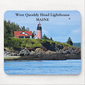 Mousepad Farol principal ocidental de Quoddy, Maine