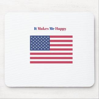 Mousepad Faz-me a bandeira americana feliz