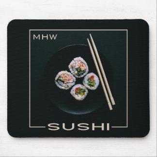 Mousepad feito sob encomenda do monograma do sushi
