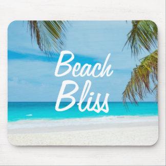 Mousepad Felicidade de relaxamento bonita da praia