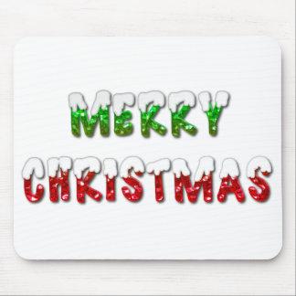 Mousepad Feliz Natal com tapete do rato da neve