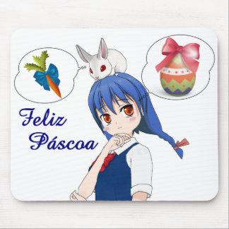 Mousepad Feliz Páscoa (Personalizável)