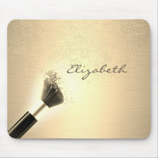 Mousepad Feminino, confetes do ouro, escova da composição,
