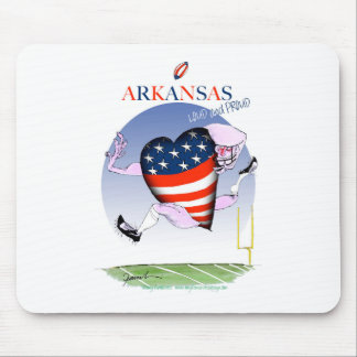 Mousepad fernandes tony altos e orgulhosos de arkansas,