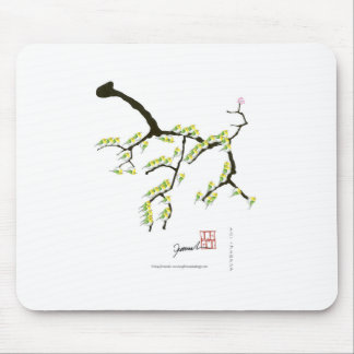 Mousepad fernandes tony sakura e pássaros verdes
