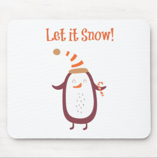 Mousepad Festivo deixe-o nevar