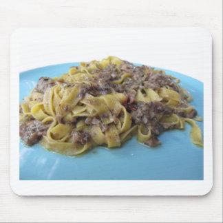 Mousepad Fettuccine ou massa fresca italiana do tagliatelle