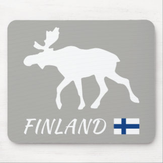 Mousepad Finland Elk and Flag