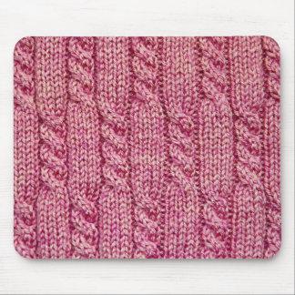 Mousepad Fio cor-de-rosa malha cabografada