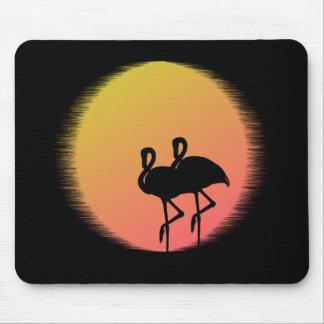 Mousepad Flamingos do por do sol