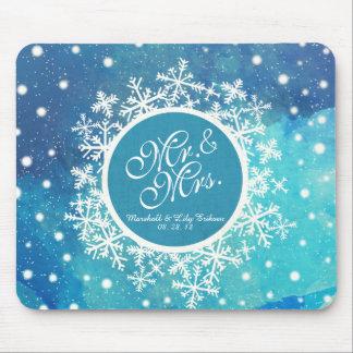 Mousepad Flocos de neve personalizados do inverno que