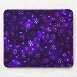 Mousepad Flocos de neve violetas