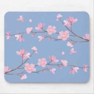 Mousepad Flor de cerejeira - azul da serenidade