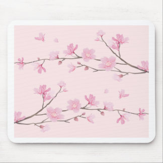 Mousepad Flor de cerejeira - rosa
