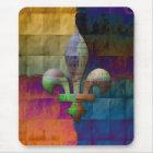 Mousepad Flor de lis em tons da jóia