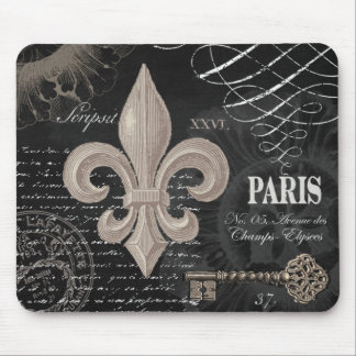 Mousepad flor de lis moderna do francês do vintage