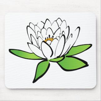 Mousepad flor de Lotus branco