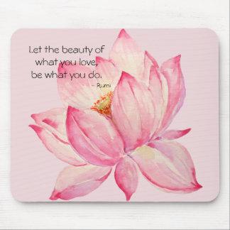 Mousepad Flor de Lotus cor-de-rosa