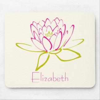 Mousepad Flor de Lotus/lírio de água personalizados