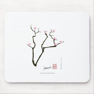 Mousepad flor de sakura e pássaros cor-de-rosa, fernandes