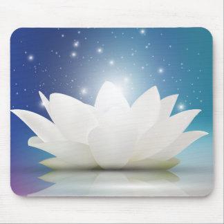 Mousepad Flor delicada elegante de Lotus branco/lírio