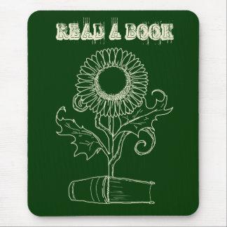 Mousepad Flor e um livro
