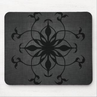 Mousepad Flor gótico no preto e nas cinzas