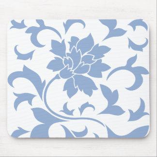 Mousepad Flor oriental - azul da serenidade
