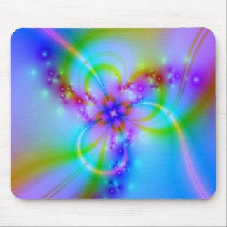Mousepad Flor roxa no azul