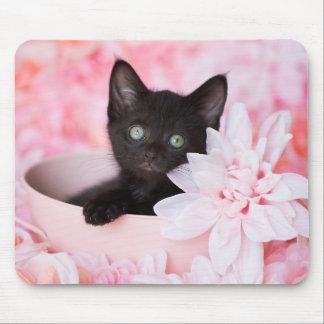 Mousepad Floral cor-de-rosa do laço