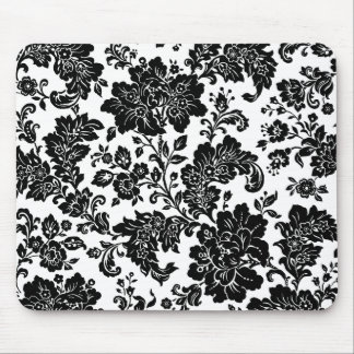 Mousepad Floral decorativo preto