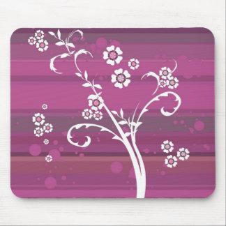 Mousepad floral roxo