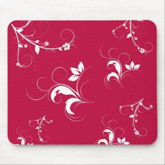 Mousepad Floral vermelho