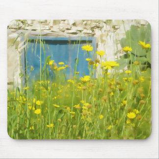 Mousepad Flores amarelas da aguarela