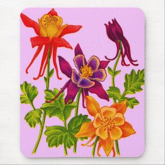 Mousepad flores aquilégias