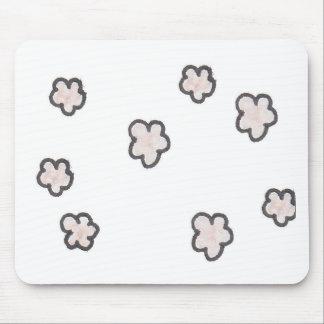 Mousepad flores cor-de-rosa, esboçadas