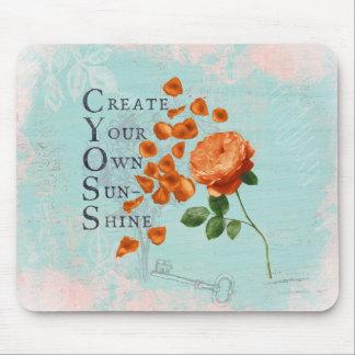 Mousepad Flores dos rosas com sabedoria dizendo sábia