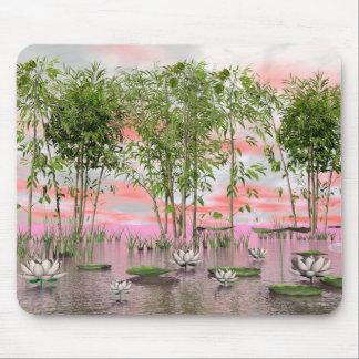 Mousepad Flores e bambus de Lotus - 3D rendem