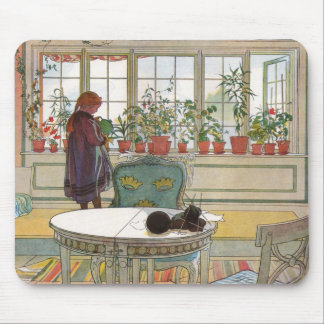 Mousepad Flores no Windowsill por Carl Larsson