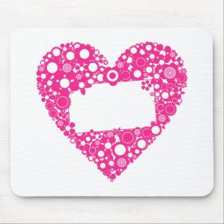 Mousepad Floresce o coração