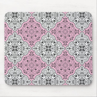 Mousepad Flourish Rococo cor-de-rosa do teste padrão