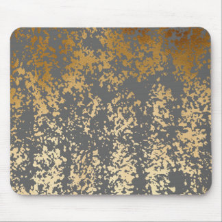 Mousepad folha de ouro elegante do falso e brushstrokes