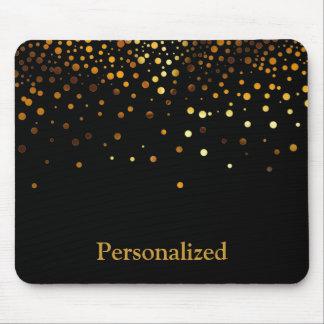 Mousepad Folha preta personalizada do falso do brilho do